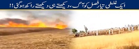 Wheat Crop Catches Fire in Narowal
