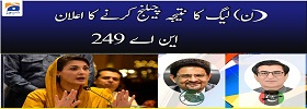 PMLN Rejected NA-249 Results