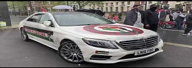 Luxury Cars Protest for Palestine