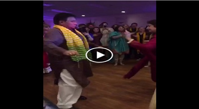 Musharraf dancing with wife