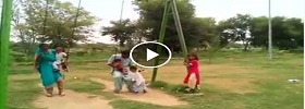 Overloaded swing tumbled