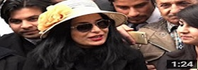 Meera telling media about her poverty