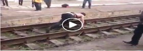Powerful Man Dragging Train