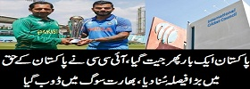 ICC Rejects Indian Appeal to Ban PK