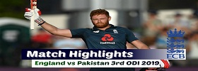 PAK vs ENG 3rd ODI Highlights