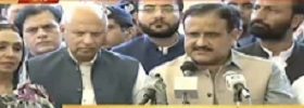CM & Governor Punjab Media Talk