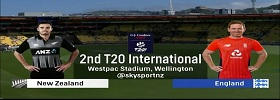 New Zealand vs England 2nd T20